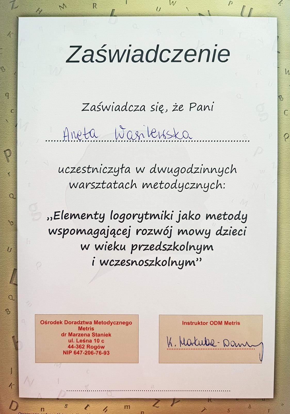 Dyplom logorytmika