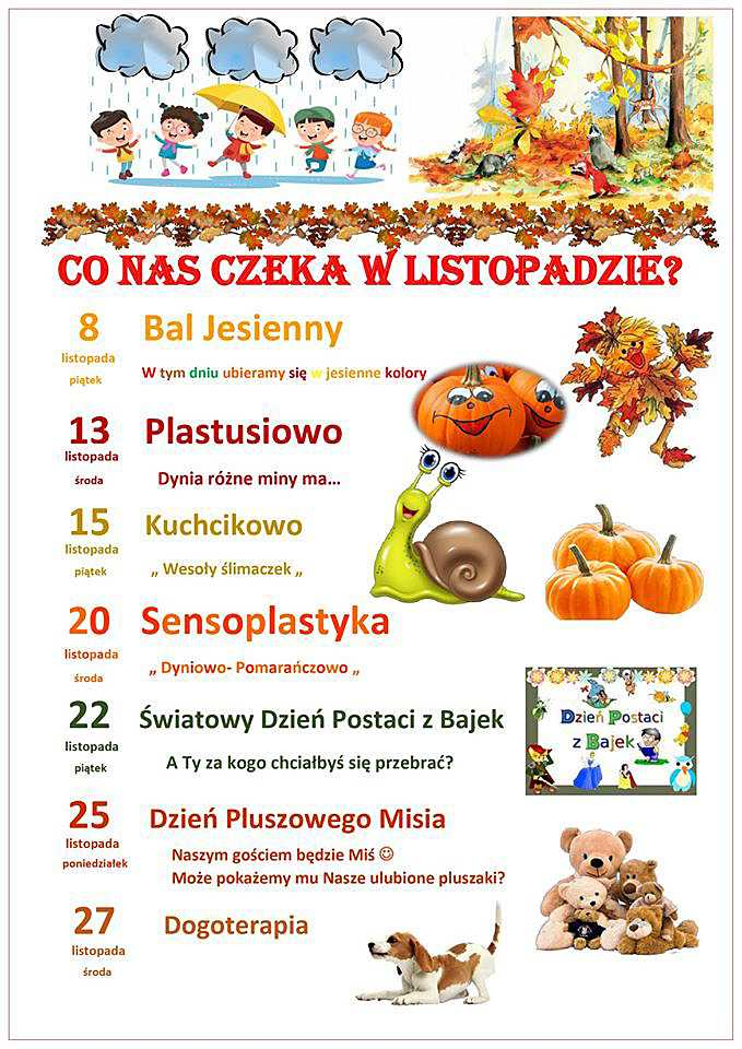 Kalendarium LISTOPAD2019